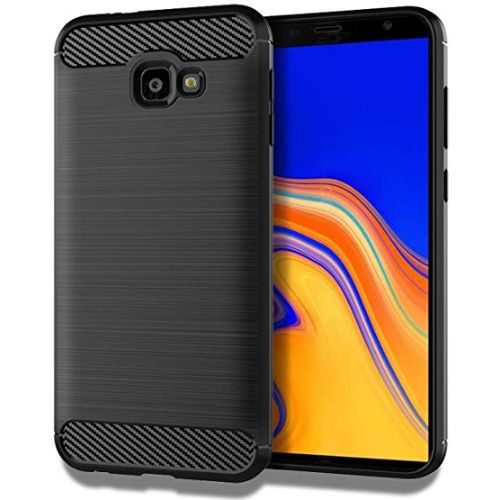 Samsung Galaxy J4 Plus Hybrid Soft Black Cover Case 1