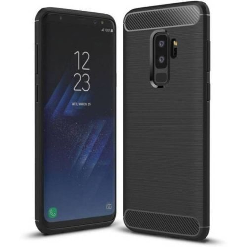Samsung Galaxy J8 Hybrid Soft Black Cover 1