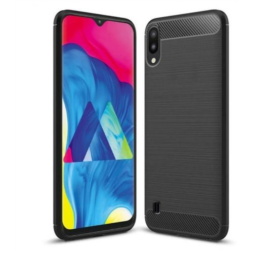 Samsung Galaxy M10 Back Cover Black Color Hybrid 1