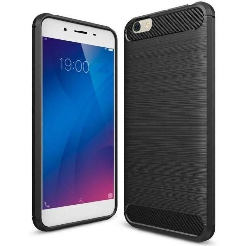 Vivo Y69 Hybrid Soft Black Cover Case 1