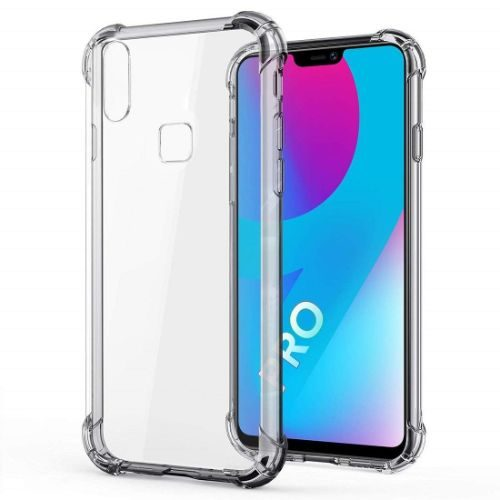 Vivo V9 Pro Transparent Soft Back Cover Case Premium 1