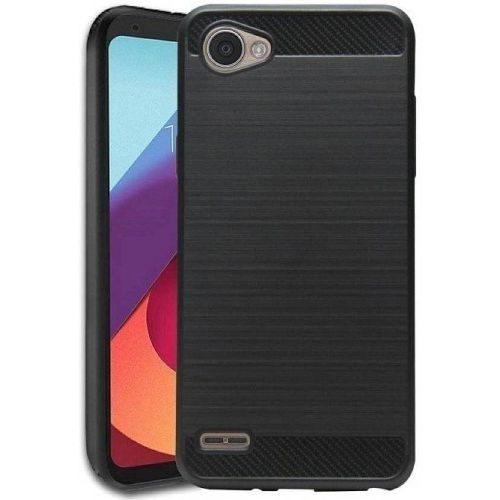 LG Q6 Plus Back Soft Black Hybrid Cover Case Premium 1