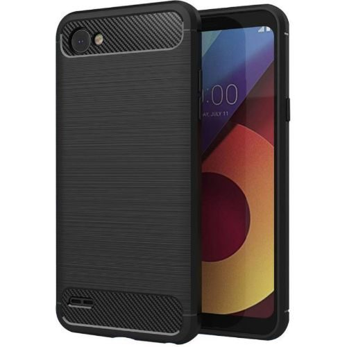 LG Q6 Plus Back Soft Black Hybrid Cover Premium 1