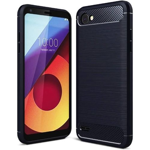 LG Q6 Plus Back Soft Black Hybrid Cover Case 1