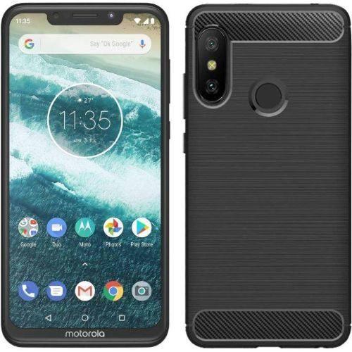 Motorola Moto One Power Back Soft Black Hybrid Cover Case 1
