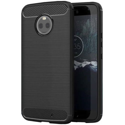 Motorola Moto X4 Back Soft Black Hybrid Cover Case 1
