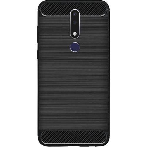 Nokia 3.1 Plus Back Soft Black Hybrid Cover Case Premium 1
