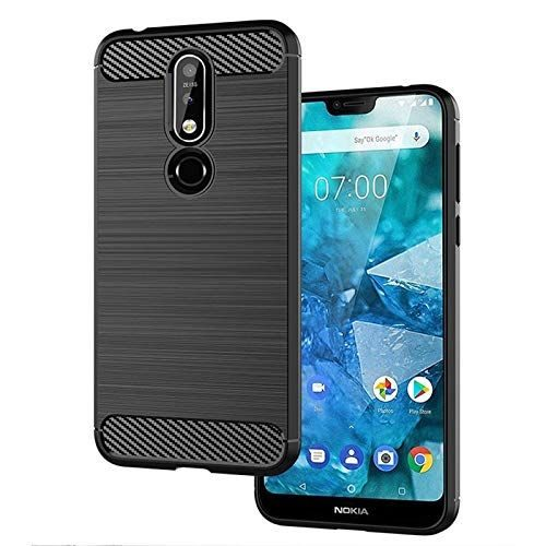Nokia 7.1 Back Soft Black Hybrid Cover Case Premium 1