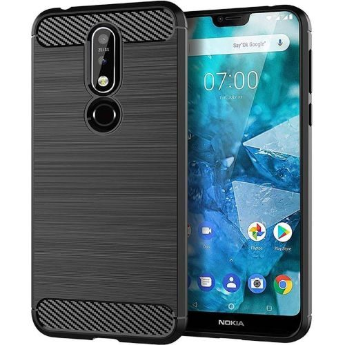 Nokia 7.1 Back Soft Black Hybrid Cover Case 1