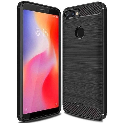 Redmi 6 Back Soft Black Hybrid Cover Case 1