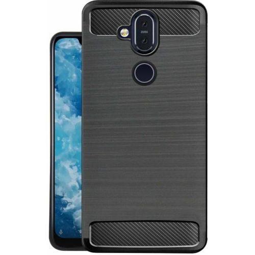 Nokia 8.1 Back Soft Black Hybrid Case Premium 1