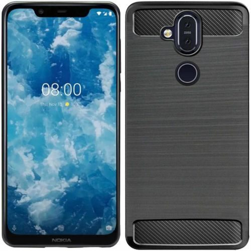 Nokia 8.1 Back Soft Black Hybrid Cover Case 1