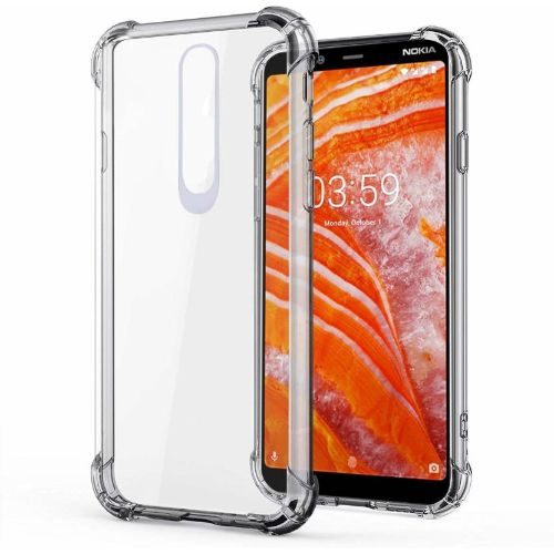 Nokia 3.1 Plus Transparent Soft Back Cover Case 1