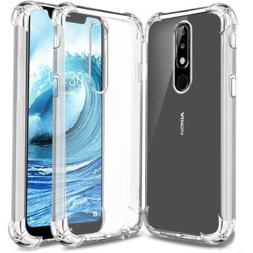 Nokia 5.1 Plus Transparent Soft Back Cover Case 1