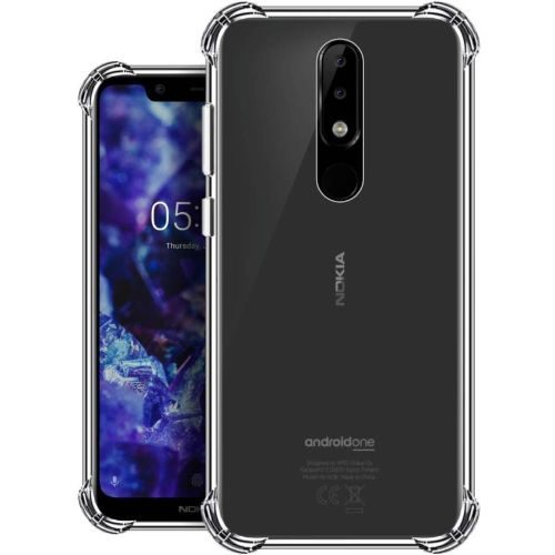 Nokia 5.1 Plus Transparent Soft Back Cover Case Premium 1