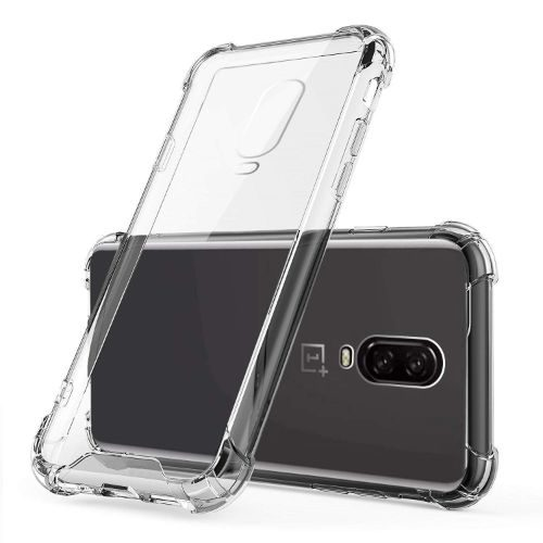 OnePlus 6T Transparent Soft Back Cover Case 1
