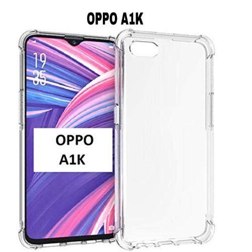 Oppo A1K Transparent Soft Back Cover Case 1