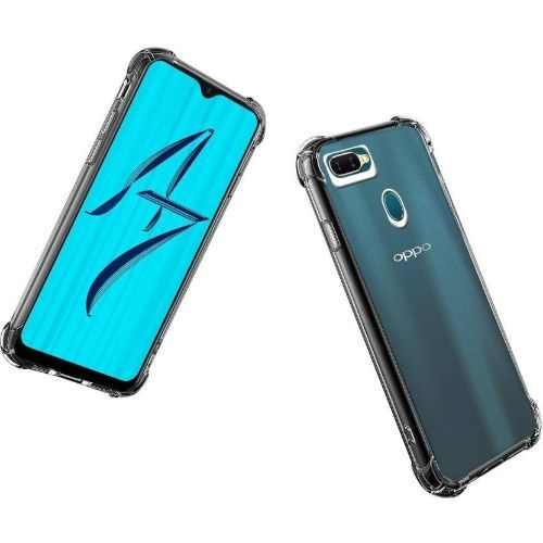 Oppo A7 Transparent Soft Back Cover Case 1