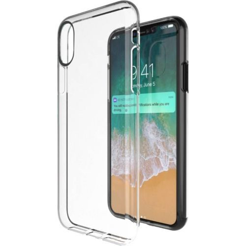 Apple iPhone X Transparent Soft Back Cover Case 1