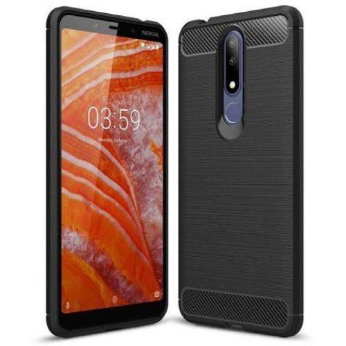 Nokia 3.1 Plus Back Soft Black Hybrid Cover Case 1