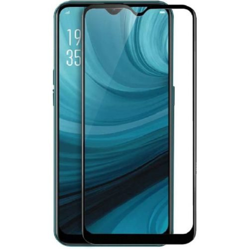 Oppo A5s Tempered Glass Full Glue 6D Black Color