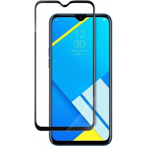 Realme C2 Tempered Glass Full Glue 6D Black Color