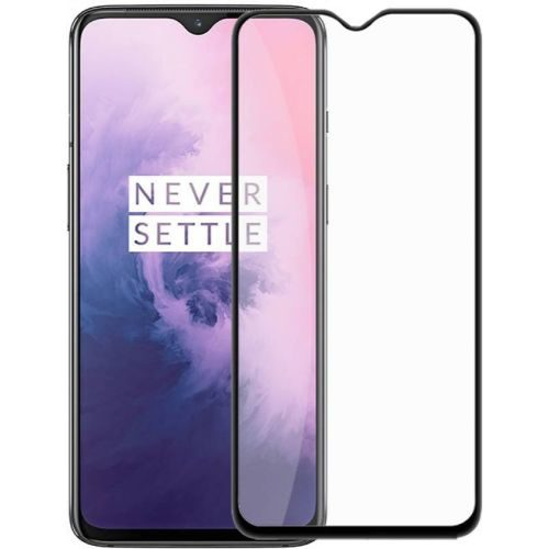 OnePlus 7 Tempered Glass Full Glue 6D Black Color