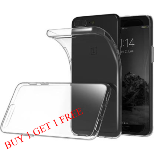 OnePlus 5 Back Transparent Soft Case Cover 1
