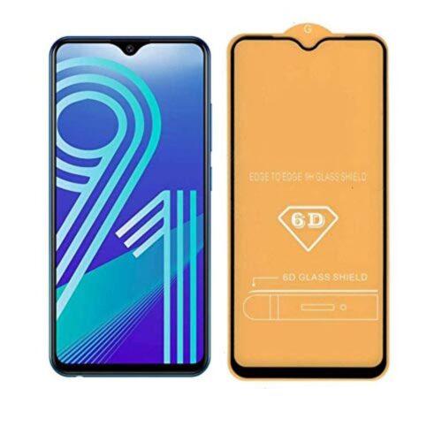 Vivo Y91, Y91i , Y93 , Y95 Tempered Glass Screen Protector Full Glue Black 1