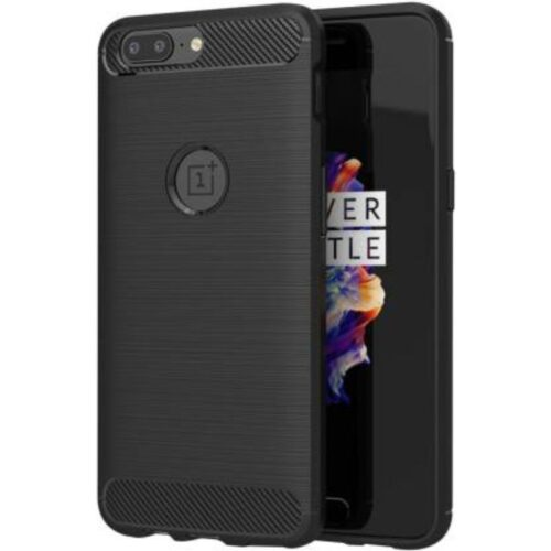 OnePlus 5 Back Cover Case Soft Black Colour 1