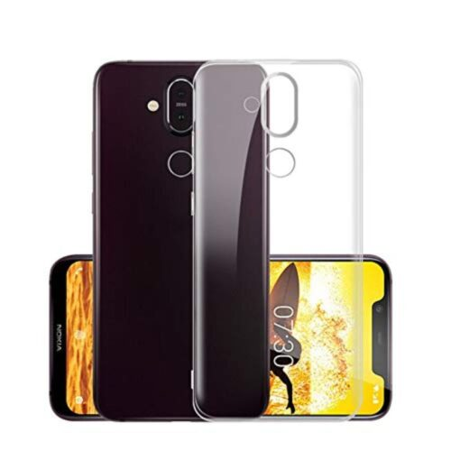 Nokia 8.1 Transparent Soft Back Cover Case 1