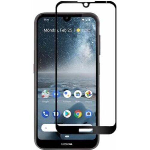 Nokia 2.2 Tempered Glass Screen Protector Full Glue Black 1