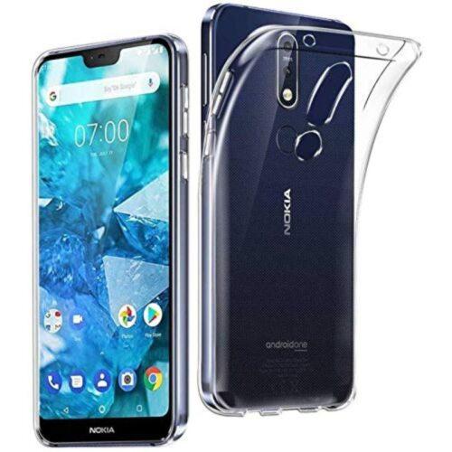 Nokia 7.1 Transparent Soft Back Cover Case 1