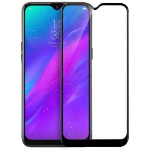 Realme 3 , Realme 3i Tempered Glass Screen Protector Full Glue Black 1