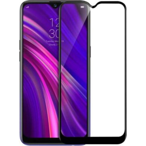 Realme 3 , Realme 3i Tempered Glass Screen Protector Full Glue Black 1