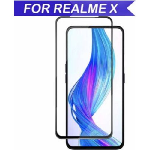 Realme X Tempered Glass Screen Protector Full Glue Black 1