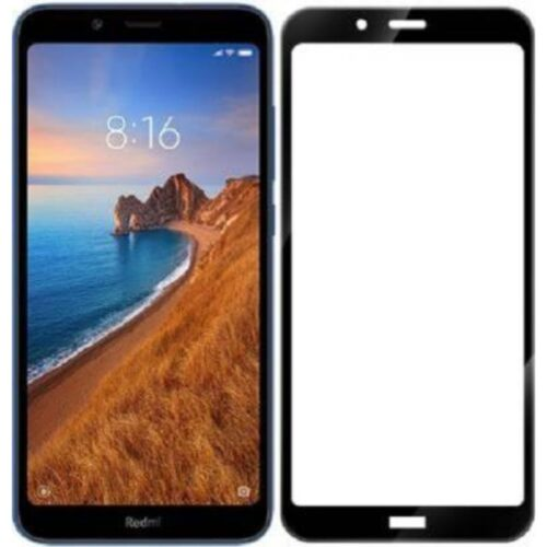 Redmi 7A Tempered Glass Screen Protector Full Glue Black 1