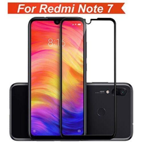 Redmi Note 7 Tempered Glass Screen Protector Full Glue Black 1