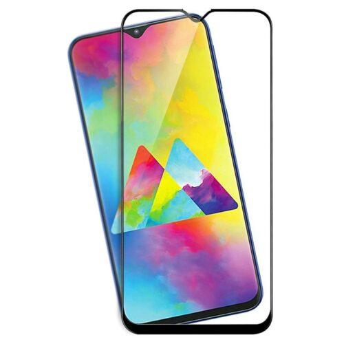 Samsung Galaxy M10, Samsung Galaxy M20 Tempered Glass Screen Protector Full Glue Black 1