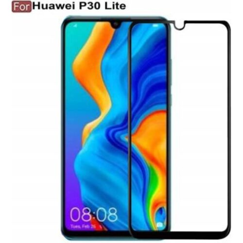 Huawei P30 lite Tempered Glass Screen Protector Full Glue Black 1