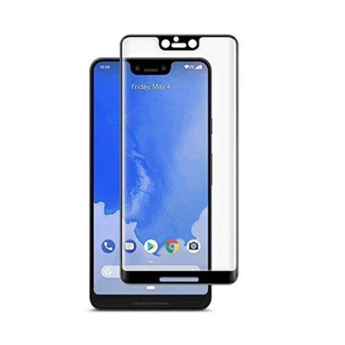 Google Pixel 3 XL Tempered Glass Screen Protector Full Glue Black 1