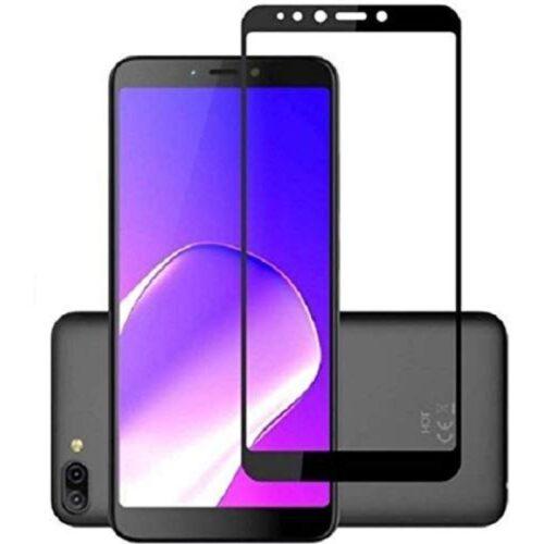 Infinix Hot 6 Pro Tempered Glass Screen Protector 6D/11D Full Glue Black 1
