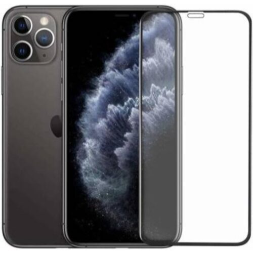 iPhone 11 Pro Max (6.5 inches) Tempered Glass Screen Protector 6D/11D Full Glue Black 1