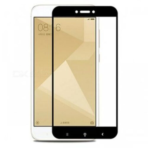 Mi Redmi 4 Tempered Glass Screen Protector 6D/11D Full Glue Black 1