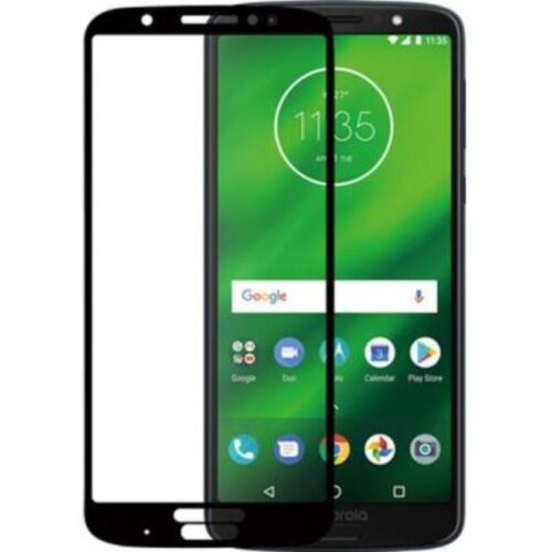 Motorola Moto G6 Plus Tempered Glass Screen Protector 6D/11D Full Glue Black 1