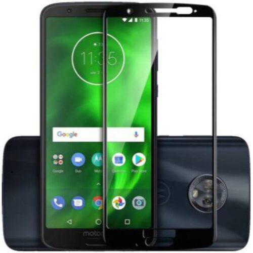 Motorola Moto G6 Plus Tempered Glass Screen Protector 6D/11D Full Glue Black 1