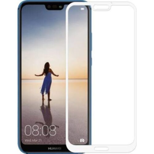 Tigerify Tempered Glass Screen Protector Full Glue 6D/11D White For Huawei P20 Lite 1