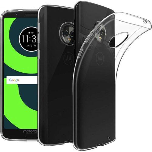 Motorola Moto G6 Plus Transparent Soft Back Cover Case 1