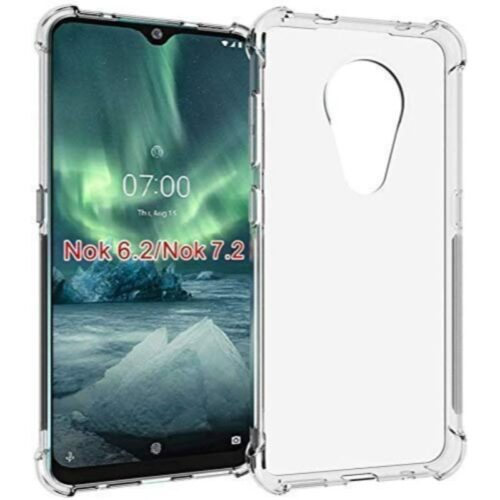Nokia 6.2 Transparent Soft Back Cover Case 1