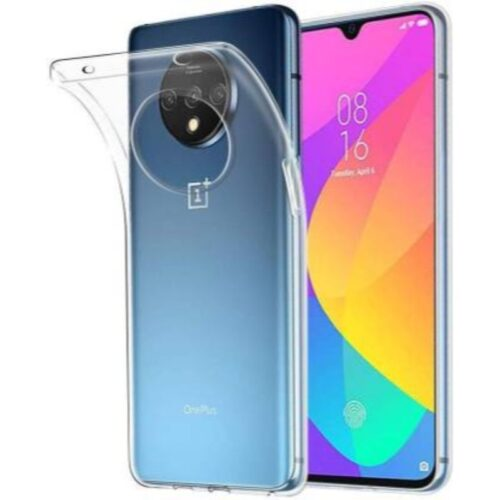 Oneplus 7T Transparent Soft Back Cover Case 1